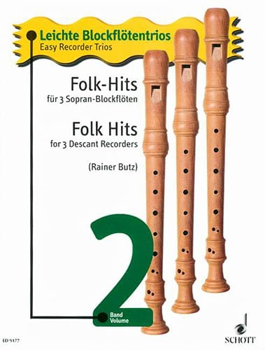 Folk-Hits Leichte Blockflötentrios Bd. 2 - laflutedepan.com