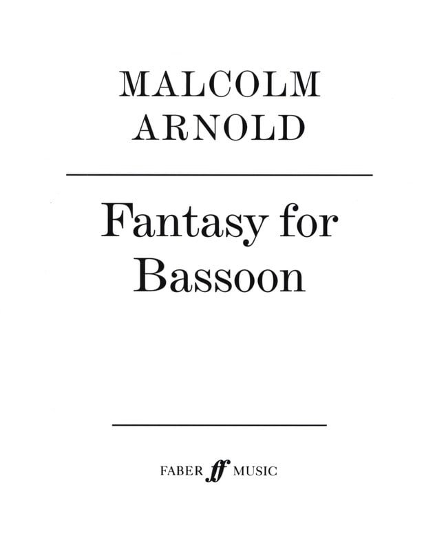 Fantasy for bassoon - Malcolm Arnold - Partition - laflutedepan.com