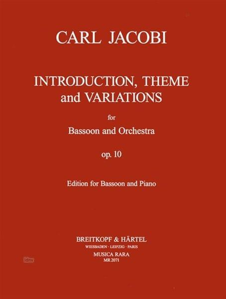 Introduction, Thème et variations op. 10 - laflutedepan.com