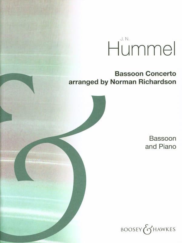 HUMMEL - Bassoon Concerto - Partition - di-arezzo.com