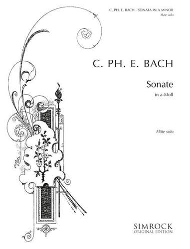 Carl Philipp Emanuel Bach - Sonata a-moll - Solo flute - Partition - di-arezzo.com