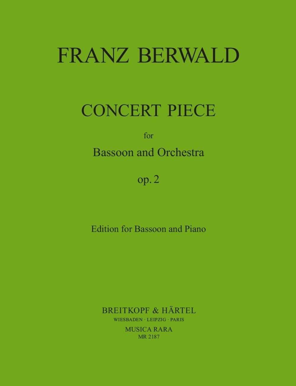 Concert piece op. 2 -Bassoon piano - Franz Berwald - laflutedepan.com