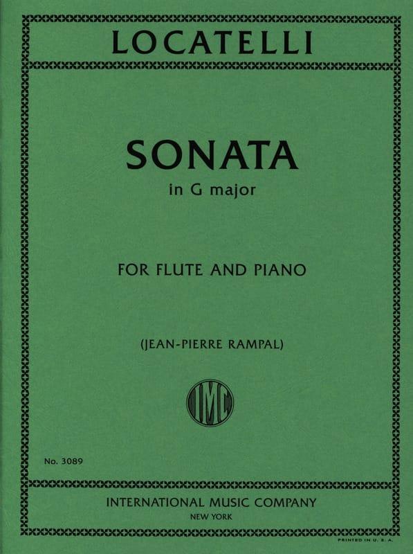 Sonata in G major - Flute piano - LOCATELLI - laflutedepan.com