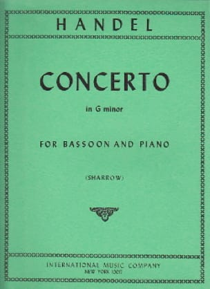 Concerto in G minor -Bassoon piano - HAENDEL - laflutedepan.com