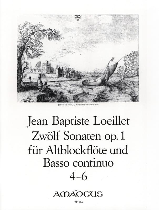 de Gant Jean Baptiste Loeillet - 12 Sonaten op. 1 - No. 4-6 - Altblockflöte u. Bc - Partition - di-arezzo.co.uk