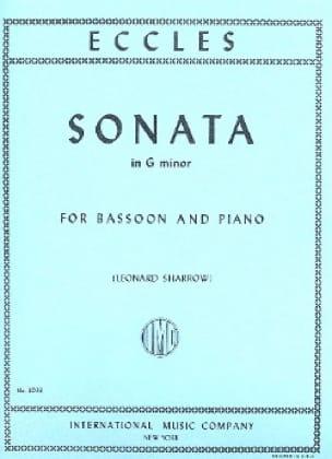 Sonata in G minor -Bassoon piano - Henry Eccles - laflutedepan.com