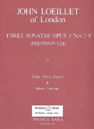 3 Sonatas Op. 3 N° 7-9 - laflutedepan.com