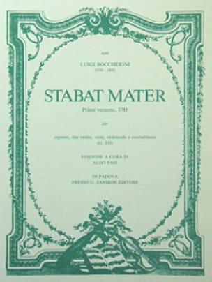 Stabat Mater - Partitura - BOCCHERINI - Partition - laflutedepan.com