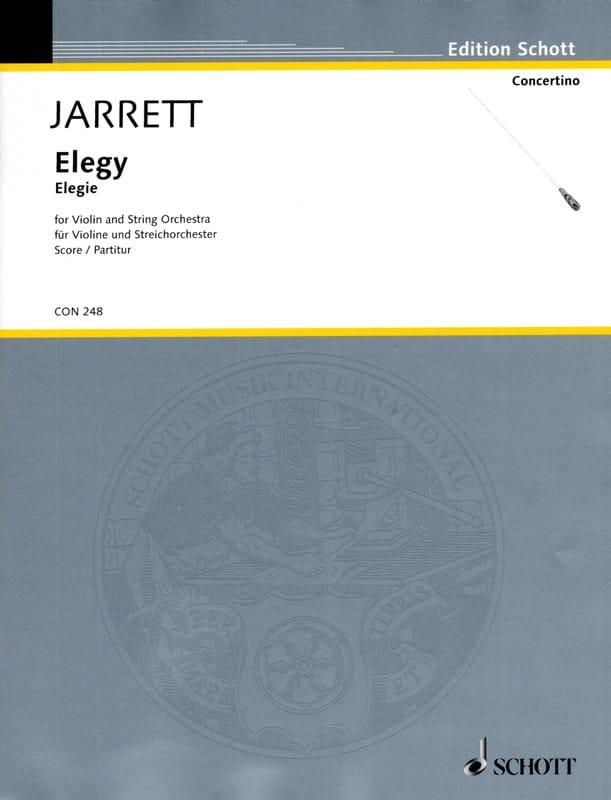 Elegy - Score - Keith Jarrett - Partition - laflutedepan.com