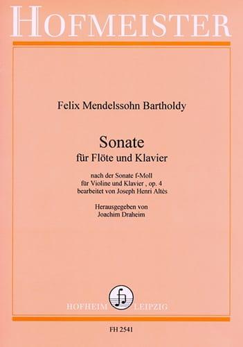 MENDELSSOHN - Sonata f-moll op. 4 - Flöte Klavier - Partition - di-arezzo.co.uk