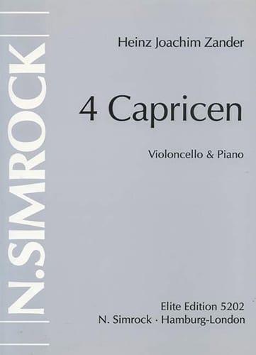 4 Caprices - Heinz Joachim Zander - Partition - laflutedepan.com