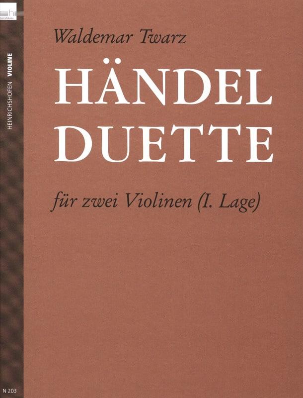 HAENDEL - Händel Duette - Partition - di-arezzo.com