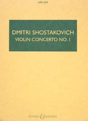 CHOSTAKOVITCH - Violin Concerto No. 1 op. 77 - Partitur - Partition - di-arezzo.co.uk