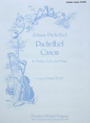 Canon - Violon/Cello/Piano - PACHELBEL - Partition - laflutedepan.com