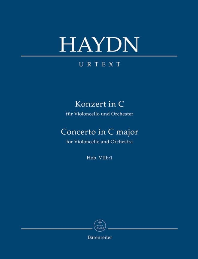 HAYDN - Konzert In C For Violoncello Und Orchester Hob. VII B: 1 - Partition - di-arezzo.co.uk