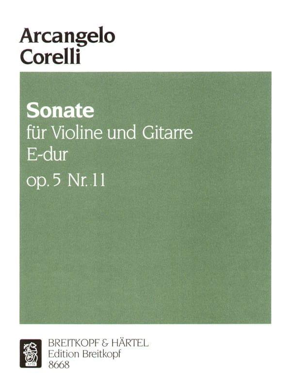 Sonate op. 5 n° 11 - Violine Gitarre - CORELLI - laflutedepan.com