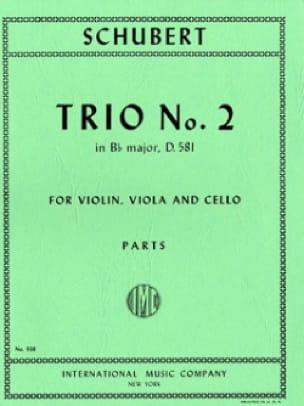 SCHUBERT - Trio No. 2 B flat major D. 581 - Parts - Partition - di-arezzo.com
