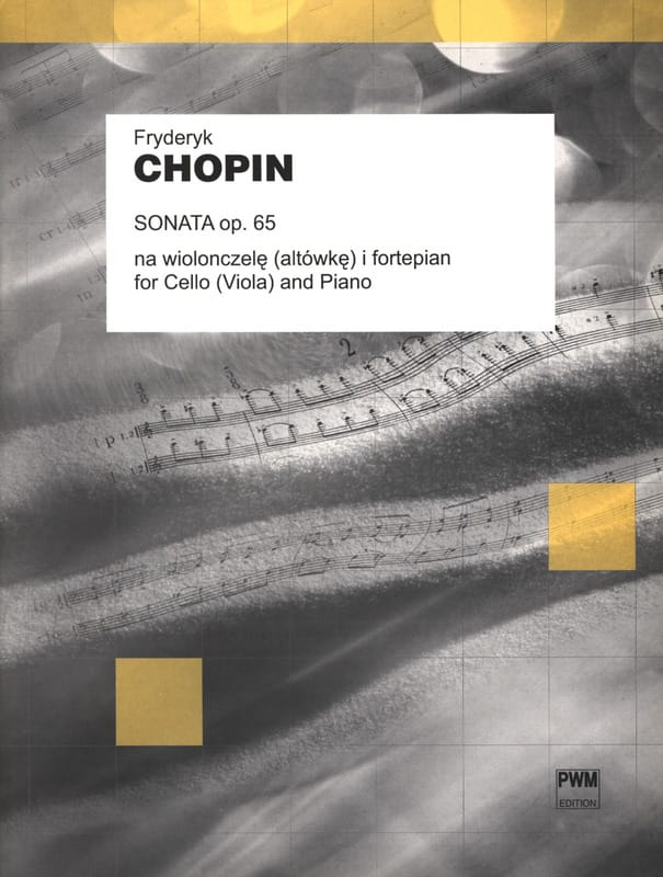CHOPIN - Sonata op. 65 - Cello or Viola - Partition - di-arezzo.com