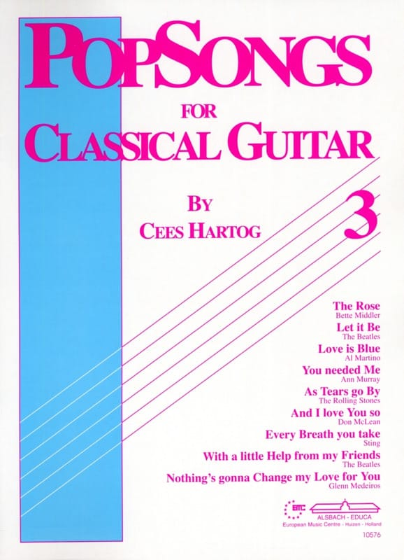 Cees Hartog - Pop Songs For Classical Guitar Volume 3 - Partition - di-arezzo.com
