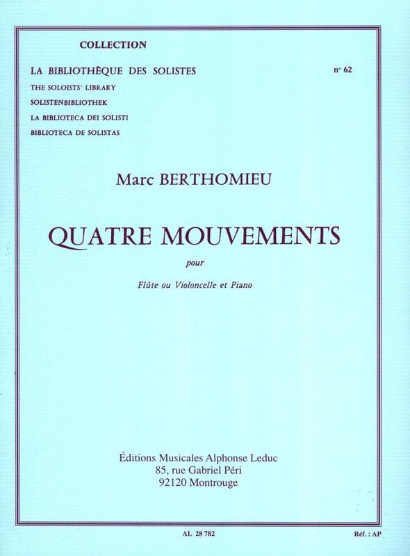 Marc Berthomieu - 4 Mouvements - Partition - di-arezzo.fr