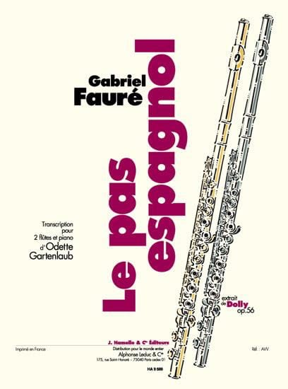 Gabriel Fauré - The Spanish Steps Extract Of Dolly - Trio 2 Flutes Piano - Partition - di-arezzo.com