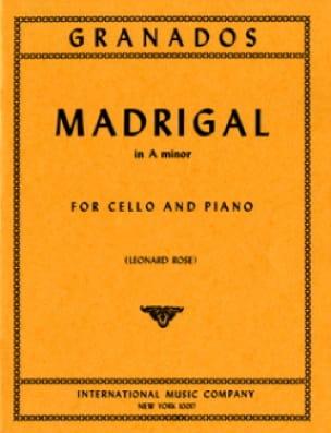 Enrique Granados - Madrigal In A Minor - Partition - di-arezzo.co.uk