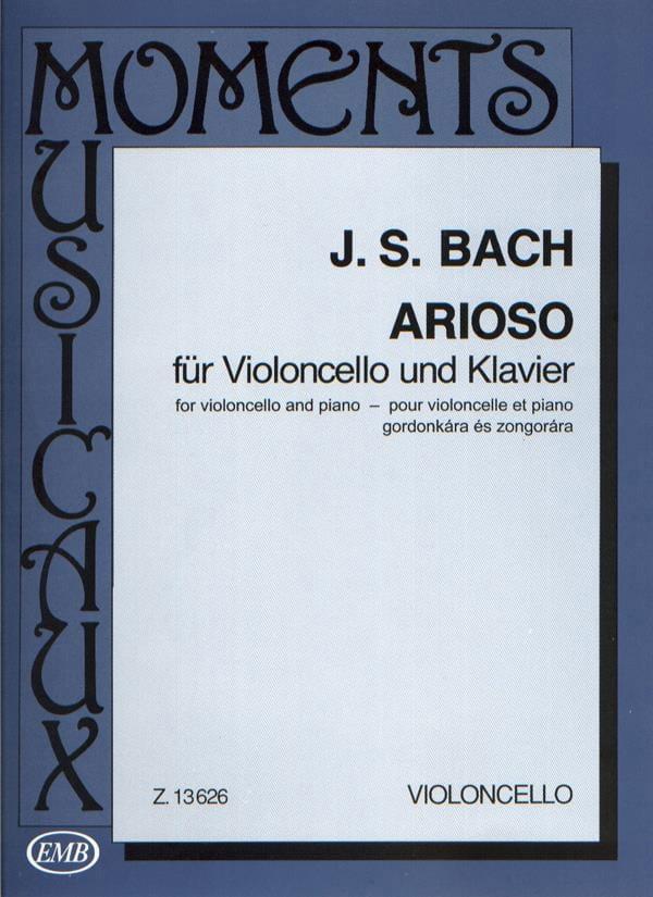 Arioso - BACH - Partition - Violoncelle - laflutedepan.com