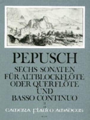 Johann Christoph Pepusch - 6 Sonaten - Bd. 2 - Altblockflöte Flöte Bc - Partition - di-arezzo.co.uk
