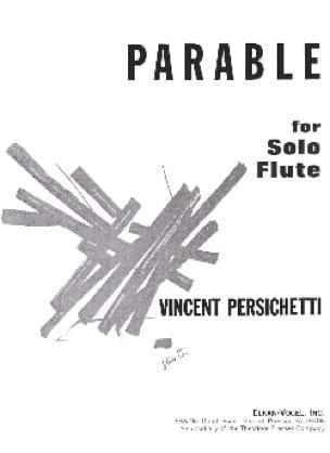 Parable for solo flute - Vincent Persichetti - laflutedepan.com