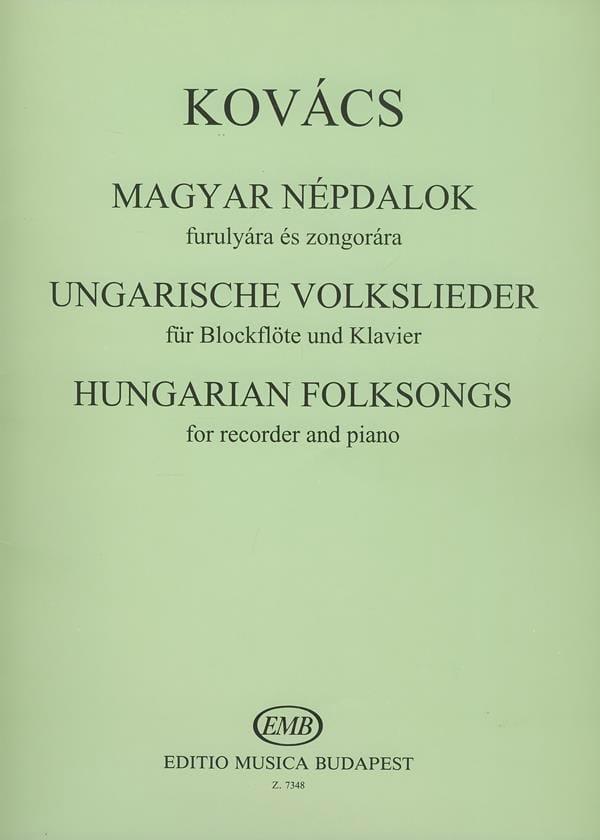 Ungarische Volkslieder - Blockflöte Klavier - laflutedepan.com