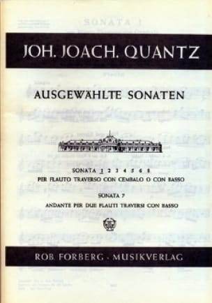 Ausgewählte Sonaten Nr. 1 - Flöte Cembalo - QUANTZ - laflutedepan.com