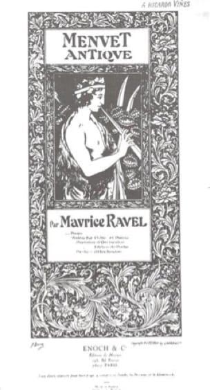 Maurice Ravel - Menú antiguo - Violín o flauta y piano. - Partition - di-arezzo.es
