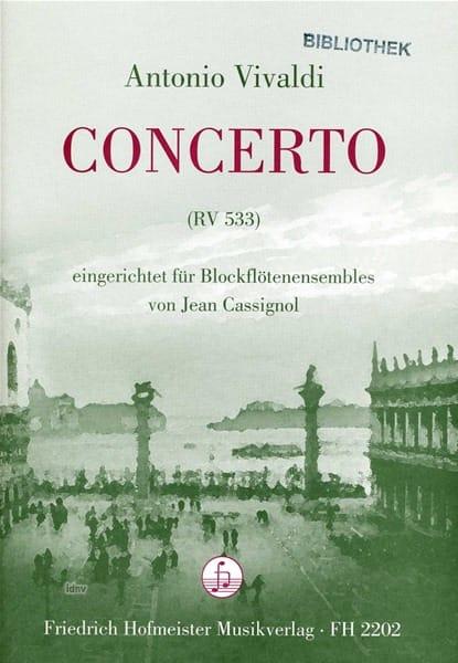 Concerto Rv 533 - VIVALDI - Partition - Flûte à bec - laflutedepan.com