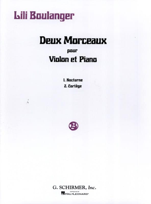 2 Morceaux - Lili Boulanger - Partition - Violon - laflutedepan.com