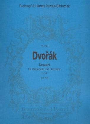 DVORAK - Konzert h-moll op. 104 - Violoncello Orchester - Partition - di-arezzo.co.uk