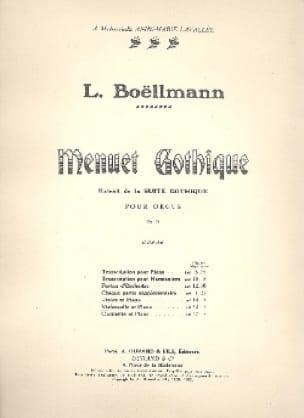 Léon Boëllmann - Menuet gótico - Partition - di-arezzo.es