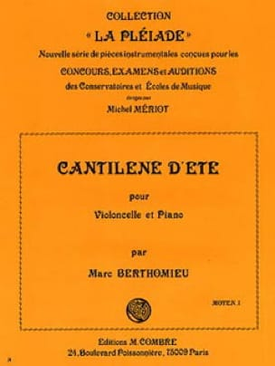 Marc Berthomieu - Cantilene summer - Partition - di-arezzo.co.uk