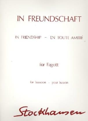 In Freundschaft -Fagott - STOCKHAUSEN - Partition - laflutedepan.com