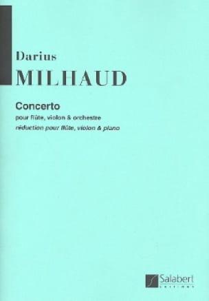 Darius Milhaud - Concerto For Flute And Violin And Orchestra - Partition - di-arezzo.co.uk