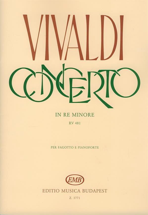 Concerto F. 8 n° 5 RV 481 in re minore - VIVALDI - laflutedepan.com