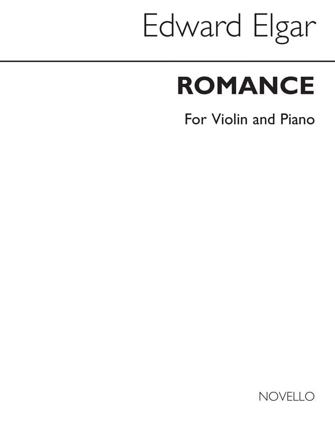 ELGAR - Romance op. 62 - Cello piano - Partition - di-arezzo.com