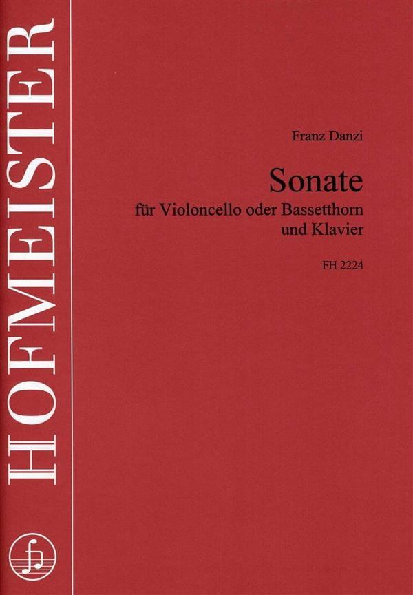 Sonate - Franz Danzi - Partition - Violoncelle - laflutedepan.com