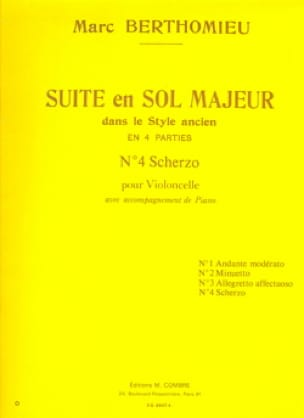 Marc Berthomieu - Scherzo: No. 4 of the Suite in G major - Partition - di-arezzo.co.uk