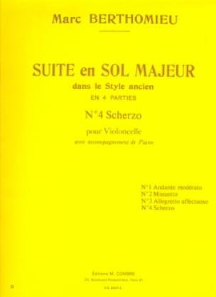 Scherzo : n°4 de la Suite en sol majeur - laflutedepan.com