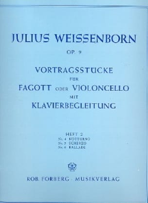 Julius Weissenborn - Vortragsstucke op. 9 - Heft 2 - Partition - di-arezzo.co.uk