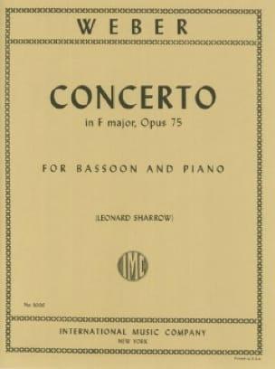 Carl Maria von Weber - Concerto in F major op. 75 - Bassoon piano - Partition - di-arezzo.com