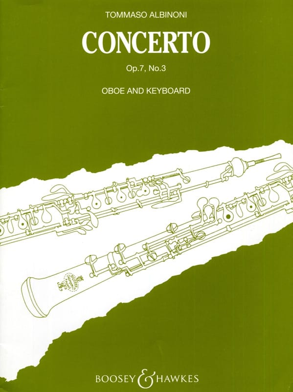 Tomaso Albinoni - Concerto per oboe op. 7 n ° 3 - Partition - di-arezzo.com