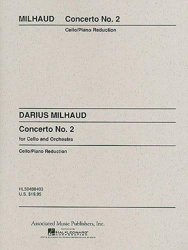 Concerto Violoncelle n° 2 - MILHAUD - Partition - laflutedepan.com