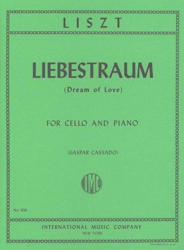 Franz Liszt - Liebestraum Dream of Love - Cello piano - Partition - di-arezzo.co.uk