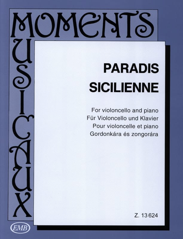 Maria Theresia von Paradis - Sizilianisch - Cello - Partition - di-arezzo.de